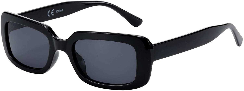 ZENOTTIC Rectangle Sunglasses Shade Sunglasses Anti UV400 Fashion Square colorful Eyewear for Men and Women