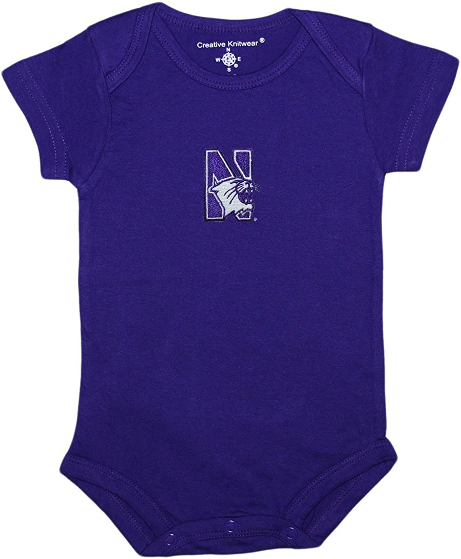 Creative Knitwear Northwestern University Wildcats Baby Bodysuit