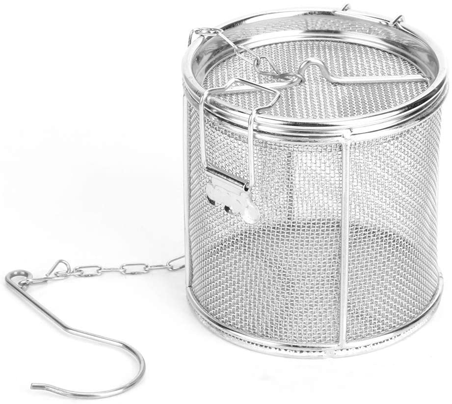 Stainless Steel Mesh Tea Basket 4.5 Inch Tea Infuser Strainers Tea Strainer Filters Tea Interval Diffuser for Tea Soup Seasonings (12X13cm)