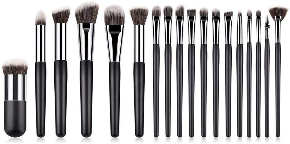 Per Newly 18 Pcs Makeup Brush Set, Premium Synthetic Kabuki Foundation Face Powder Blush Eyeshadow Brushes Makeup Brush Kit, Ideal for Pro & Daily Use