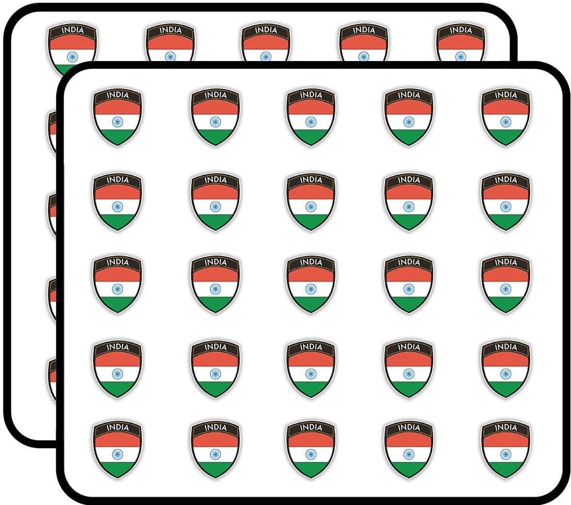 India Flag Design Sticker for Scrapbooking, Calendars, Arts, Kids DIY Crafts, Album, Bullet Journals 50 Pack