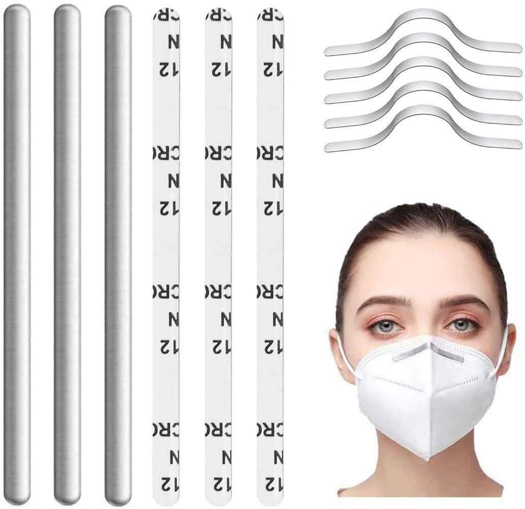 Nose Bridge Strip, Aluminum Strips Nose Wire, Nose Bridge Bracket for DIY Mask Handmade Crafting Making Nose Bridge Clip