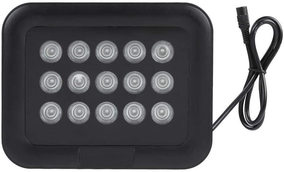 Infrared Illuminator, 15pcs IR Infrared LEDs Array Light IP65 Waterproof Night Vision for IP Camera, CCTV Security Camera 12V