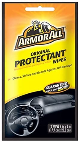 Armor All Original Protectant Wipes Cleans, Shines and Guards Your Car Interior, 2 Wipes