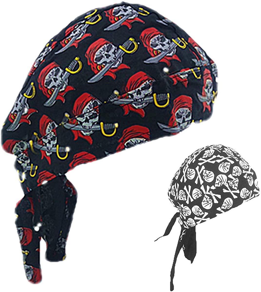 Skull Cap Head Bandana for Men Cotton Sweat Wicking