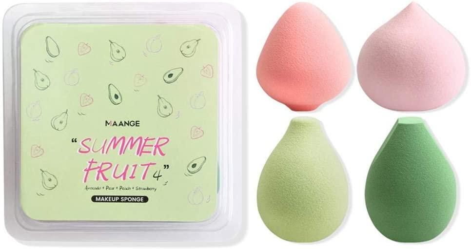 Makeup Sponge Puff Makeup Blending Sponge Makeup Blender Foundation Sponge Concealer Sponge Applicator Sponges (4-Pack)