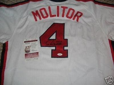 Paul Molitor Twins,hof Jsa/coa Authentic Signed Jersey - Autographed MLB Jerseys