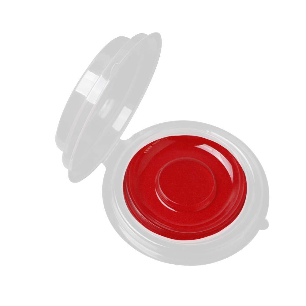 Kehuashina 50pcs Disposable Empty Clear Round False Eyelashes Storage Case Cosmetic Storage Box Eye Makeup Tool Place Eyelashes Scarlet
