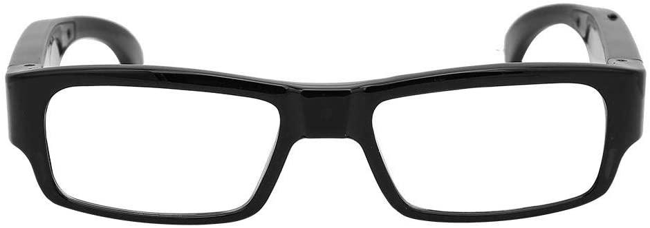 awstroe Camera Glasses 1080P Mini Video Glasses HD Wearable Camera, WiFi Camera Flat Lens Glasses 1920x1080 Video Recorder for Outdoor Climbing Riding Fishing