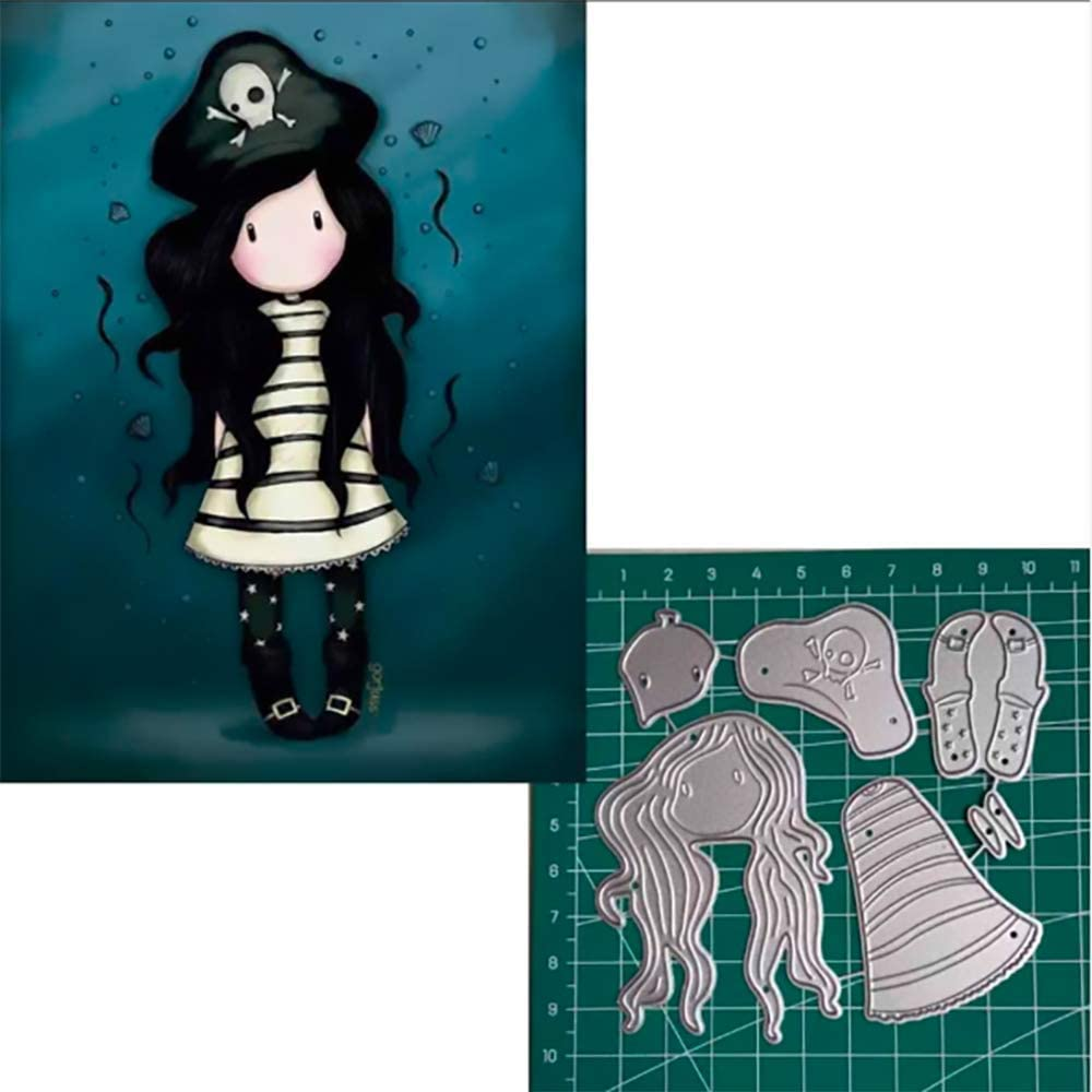 Little Girl Metal Cutting Dies for Card Making Scrapbook Paper Embossing DIY Crafts