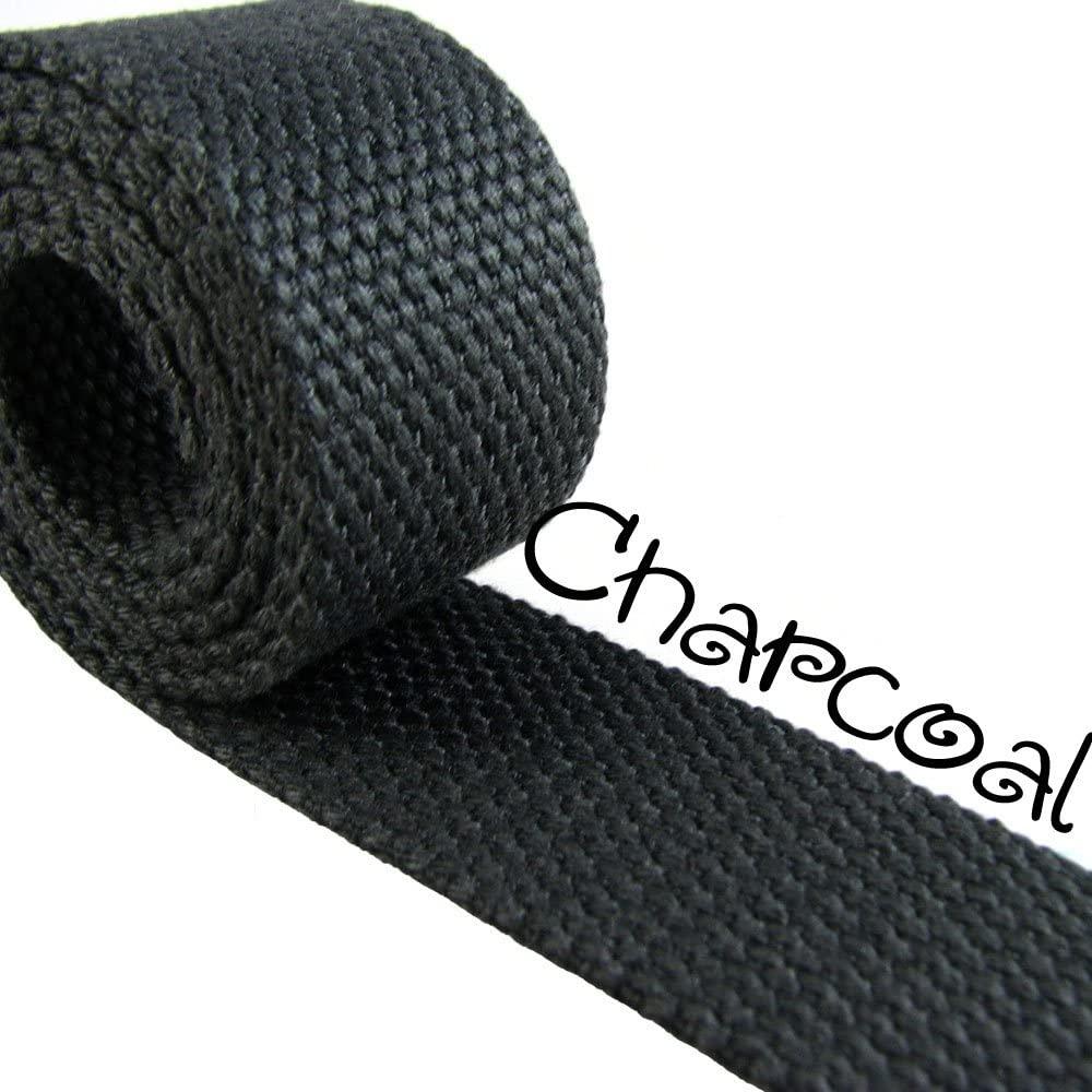 Charcoal - Heavy Canvas Webbing Roll 1.25