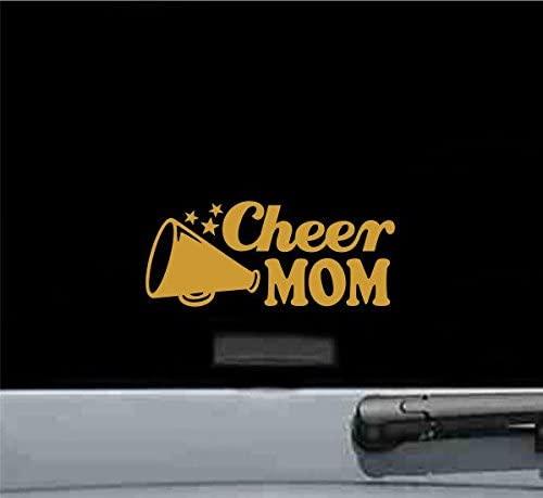 JS Artworks Cheer Mom Style2 Vinyl Decal Sticker (Gold)