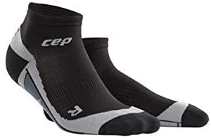 CEP Womens Ankle Compression Running Sock Low Cut (Deep Ocean/Green) III