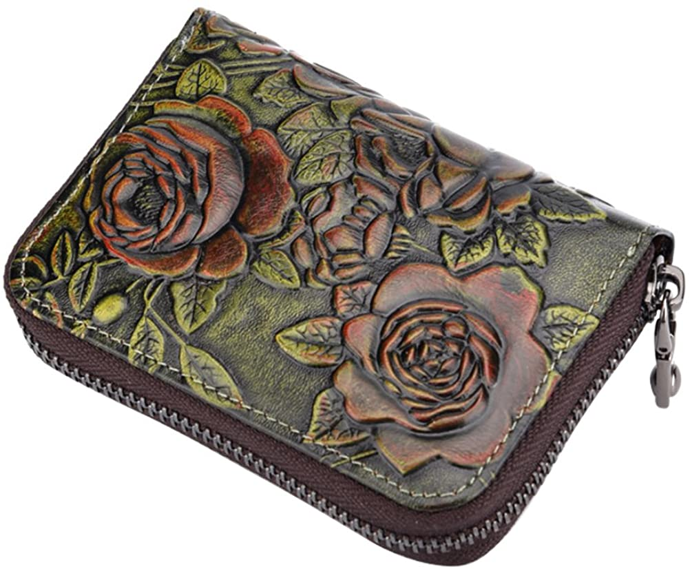Womens Wallet Fmeida Leather Credit Card Holder Change Purse Zipper Card Case