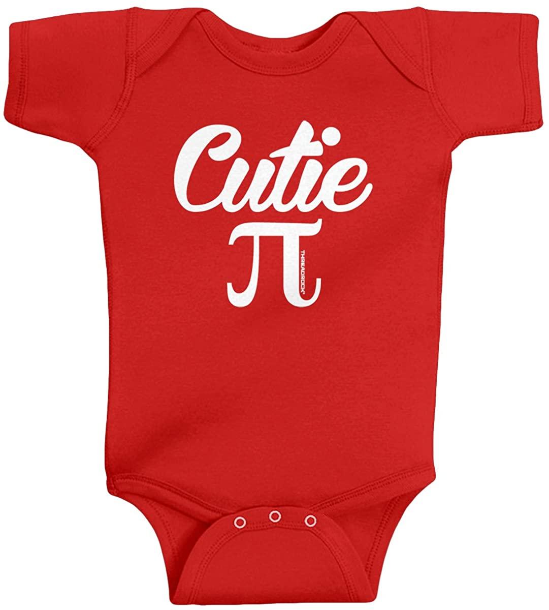 Threadrock Unisex Baby Cutie Pi (Symbol) Infant Bodysuit