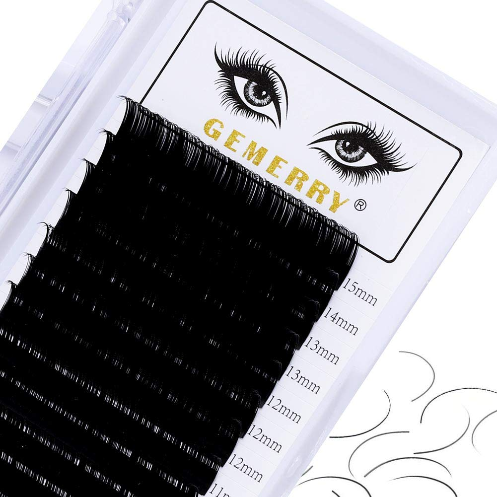 16 Rows Eyelash Extensions Individual Classic Lash Tray 0.10 D curl 7-15mm Mixed Length Individual Lashes Lash Extensions Supplies Mega Volume by GEMERRY (0.10-d curl-mix 7-15mm)