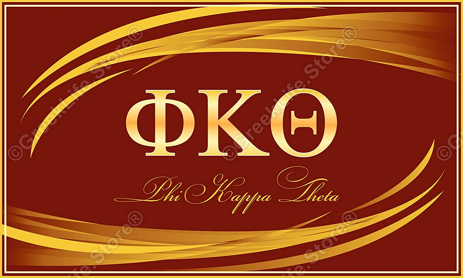 Apedes Phi Kappa Theta Computer Tablet Decal Sticker 3x5 inches