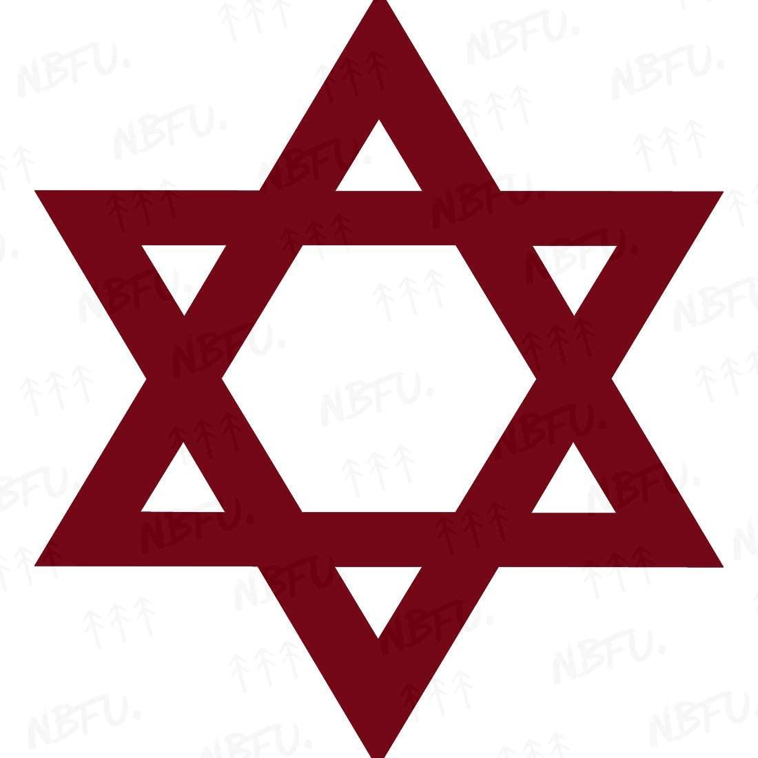 NBFU Decals Judaism Jewish Star David Religious Symbols 1 (Burgundy) (Set of 2) Premium Waterproof Vinyl Decal Stickers Laptop Phone Accessory Helmet Car Window Bumper Mug Tuber Cup Door Wall
