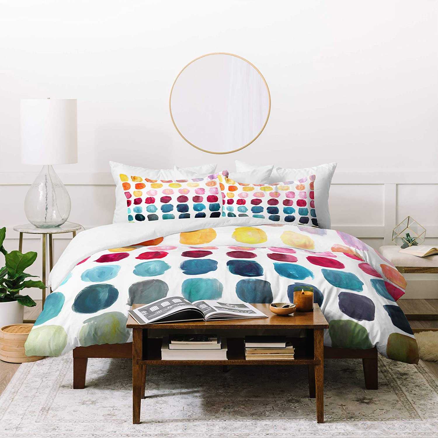 Deny Designs Stephanie Corfee Color Palette Duvet Set with Two Pillow Shams, King, Multi