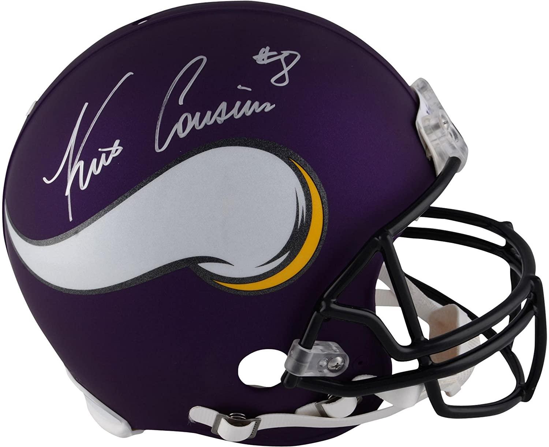 Kirk Cousins Minnesota Vikings Autographed Riddell Pro-Line Helmet - Autographed NFL Helmets