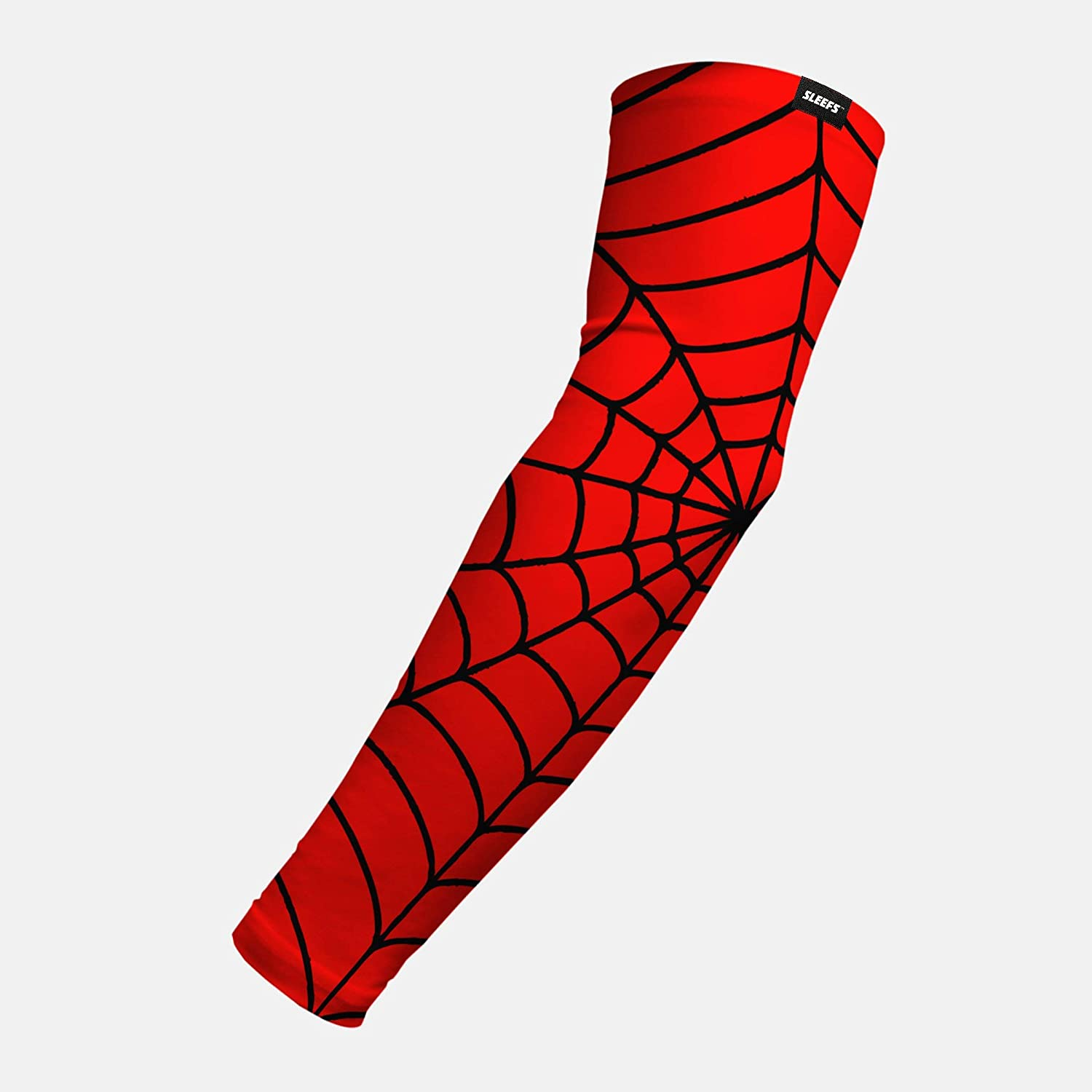 Red Web Pattern Arm Sleeve