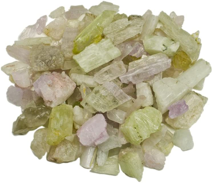 Hypnotic Gems Materials: 1 lb Rough Bulk Kunzite and Hiddenite Stones from Pakistan - Raw Natural Crystals for Cabbing, Tumbling, Lapidary, Polishing, Wire Wrapping, Wicca & Reiki Crystal Healing