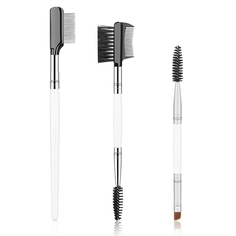 Eyebrow Eyelash Brush Comb, Eyelash Eyebrow Spoolie Brushes, Lashes Applicator Mascara Wand, Set of 3