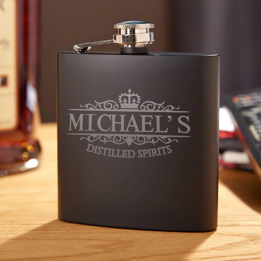 Kensington Blackout Personalized Flask (Customized Product)