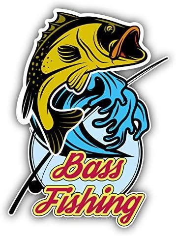Bass Fishing Emblem Window Truck Car Bumper Sticker Decal 4