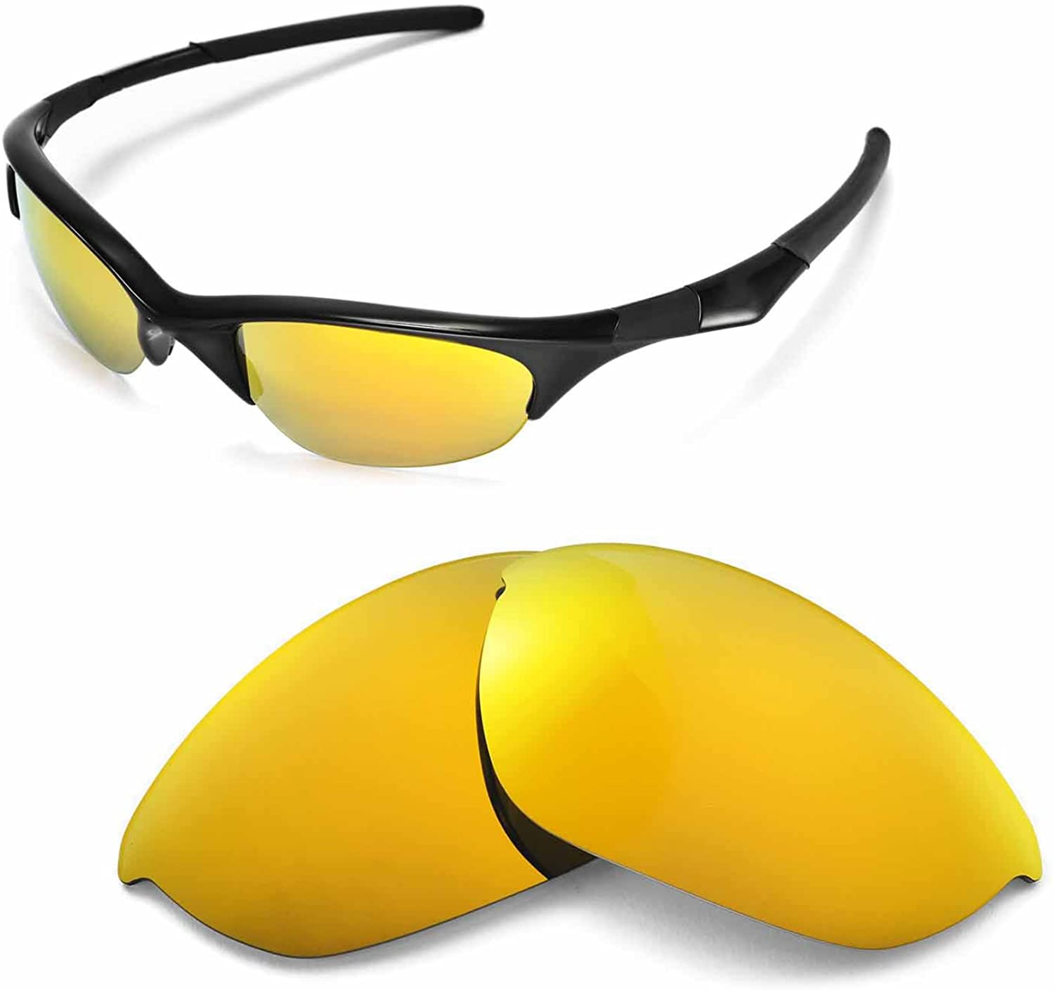 Walleva Replacement Lenses Or Lenses/Rubber for Oakley Half Jacket Sunglasses - 48 Options Available