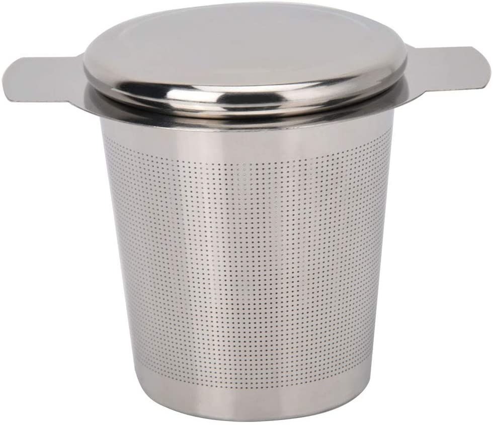 SOONHUA Tea Ball Infuser, Stainless Steel Tea Leaf Coffee Filter Residual Strainer Filter Mesh with Cover and Handle to Brew Loose Leaf Tea, Spices & Seasonings