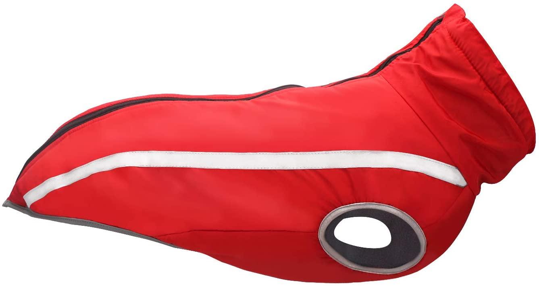 Segarty Dog Coat, Red Doggies Jacket, Reflective Strip Winter Splashproof Sport Vest Jackets Snowsuit Apparel for Small Medium Large Dogs