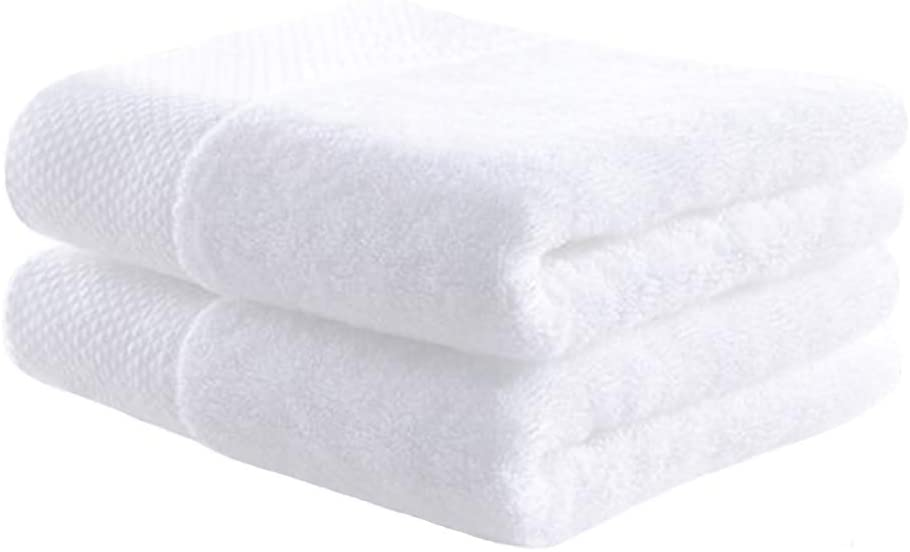 White Classic Cotton Hand Towel, Highly Absorbent ,Thick and Soft Hotel Bathroom Towels, 2 Pack,14 x 30 Inch