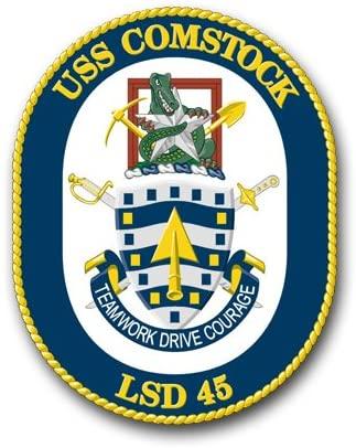US Navy USS Comstock LSD-45 Military Veteran Served Window Bumper Sticker Vinyl Decal 3.8
