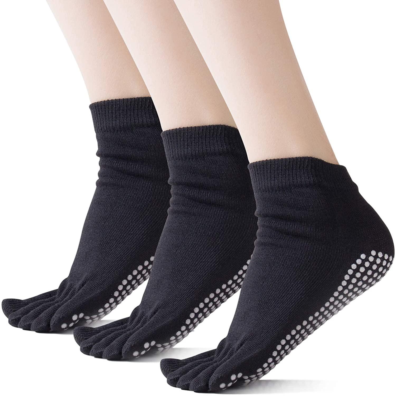 Yoga Socks for Women Non-slip Grip & Straps Socks for Pilates, Barre, Bikram Fitness