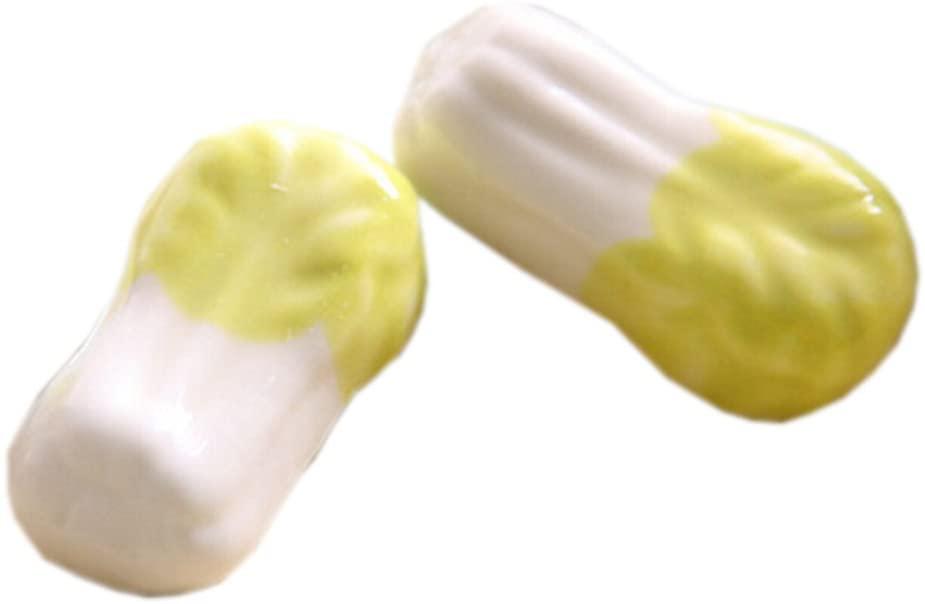 Kylin Express 4pcs Cute Ceramics Chopsticks Rests Spoon Fork Holder, Chinese Cabbage