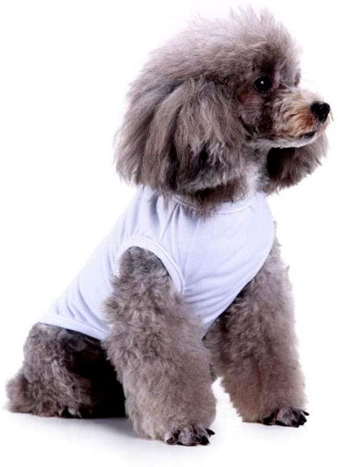 YAODHAOD Dog T-Shirt, Dog Shirts Blank Clothes, Summer Pet Plain Tee Vests Sweatshirt for Medium Small Cats Dogs