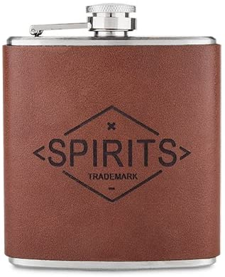 Genuine Leather Flask by Foster and Rye