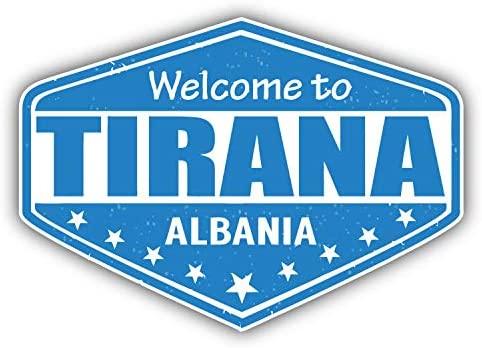JJH Inc Magnet Tirana City Albania Grunge Travel Stamp Flexible Vinyl Magnet Waterproof Car Magnetic Bumper Sticker 5