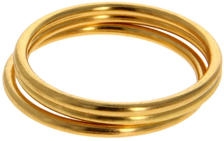 MroMax 2pcs O Ring Buckle 40mm Zinc Alloy Circular O-Rings Gold Tone for Hardware Bags Belts Craft DIY Accessories