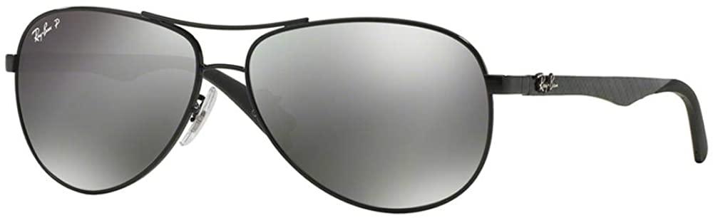 Ray-Ban Men's Rb8313 Carbon Fiber Double Brow Bar Pilot Aviator Sunglasses