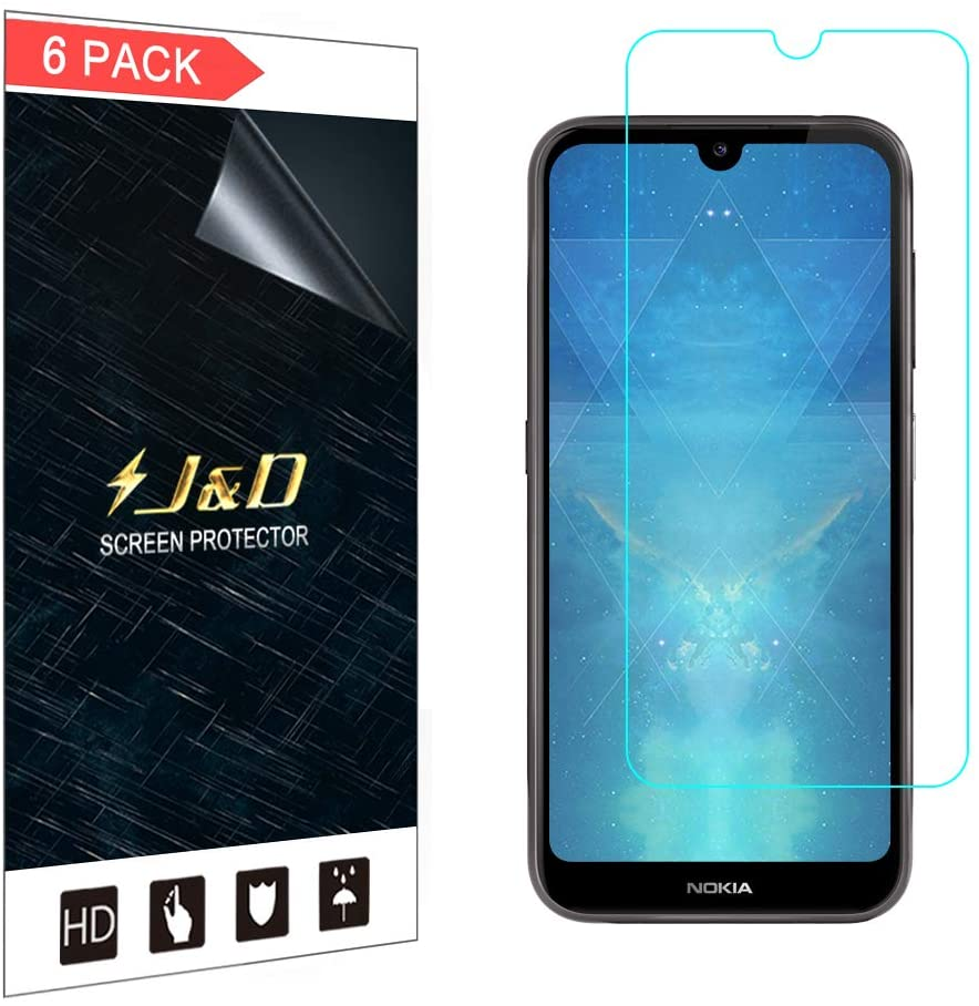 J&D Compatible for 6-Pack Nokia 4.2 Screen Protector, [Not Full Coverage] Premium HD Clear Film Shield Screen Protector for Nokia 4.2 Crystal Clear Screen Protector - [Not Compatible with Nokia 3.2]