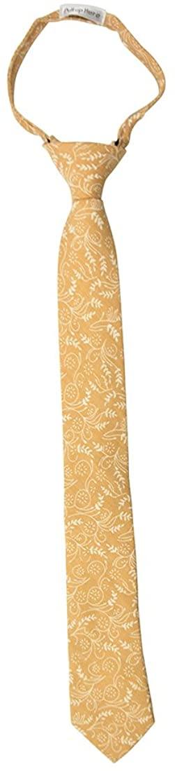 Floral Cotton Zipper Up Necktie Adjustable Formal Tie