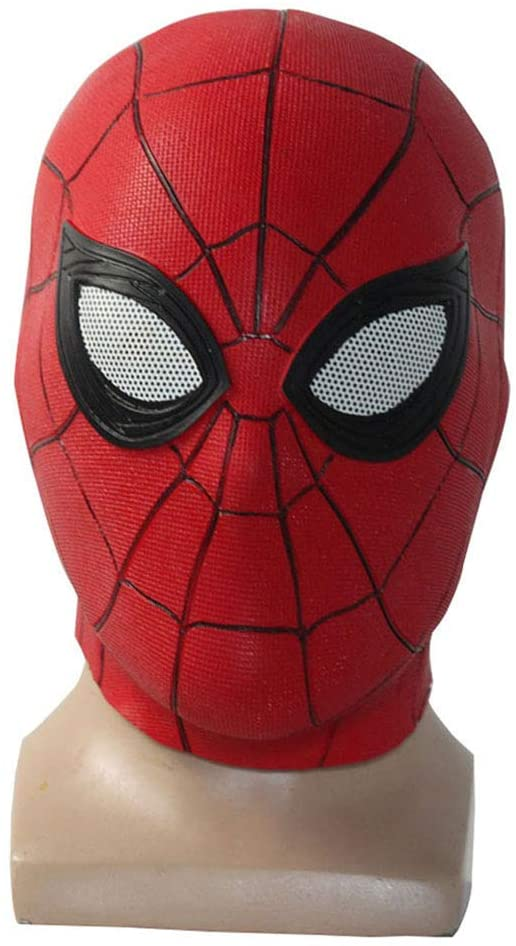 Far from Home Cosplay Spider Mask Hood Accessories (Red)