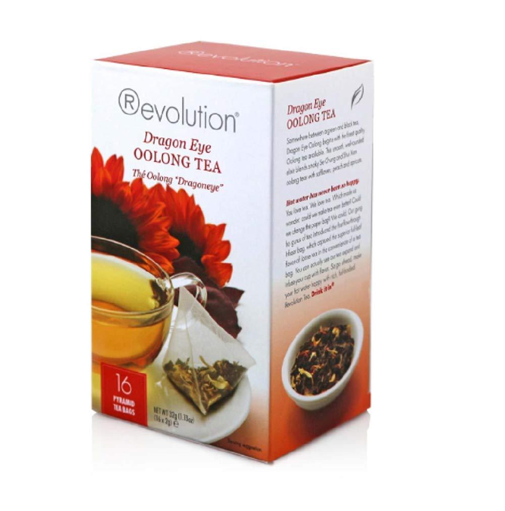 Revolution Tea - Dragon Eye Oolong Tea | Premium Full Leaf Infuser Stringless Teabags (20 Bags Each - 6 Pack)