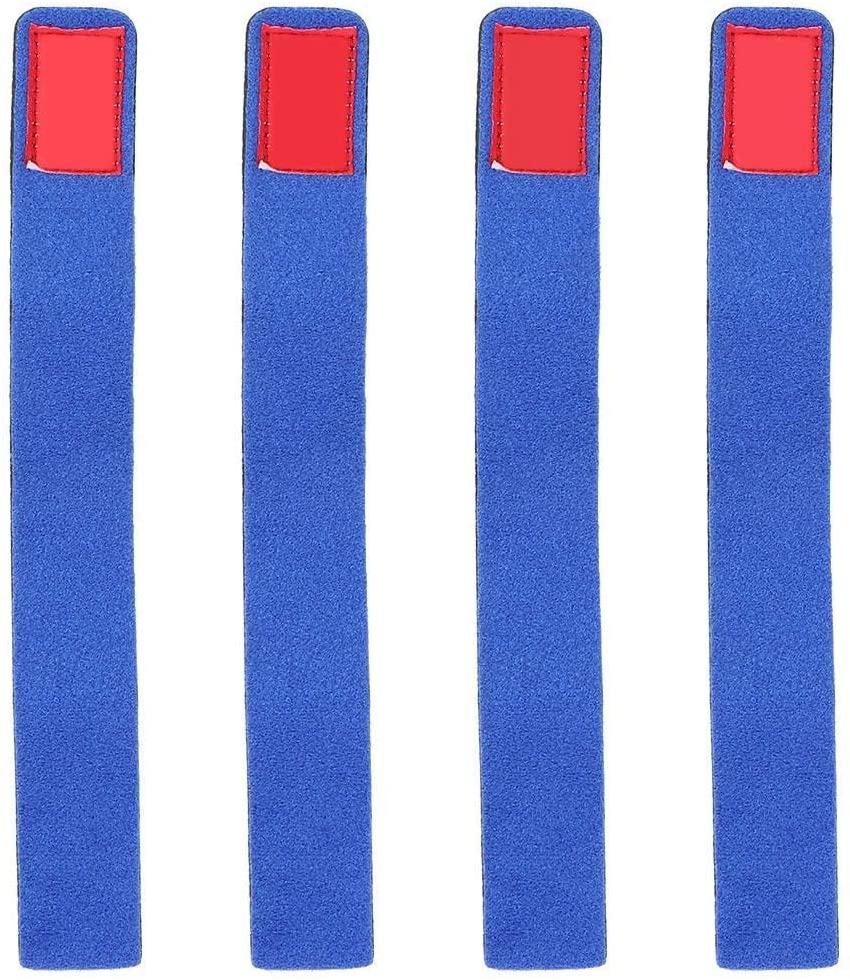 Zer one 4PCS Fishing Rod Strap, Elastic Fishing Rod Belt Magic Pole Bandage on Blue