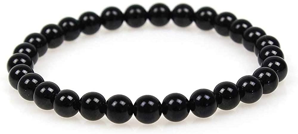 MJDCB 6mm Tiger Eye Stone Beads Bracelet Elastic Natural Stone Yoga Bracelet Bangle