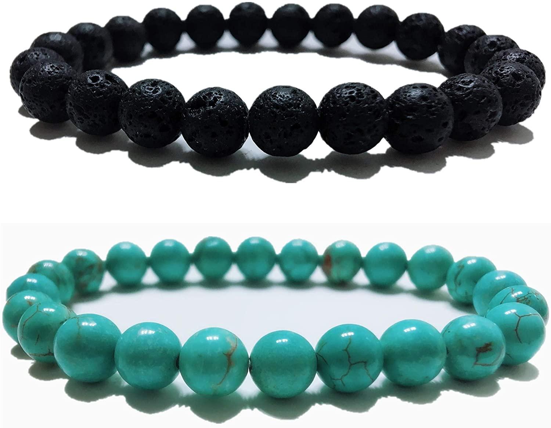 LIDU Love Bracelet King and Queen Teir Friendship 8mm Beads Bracelet