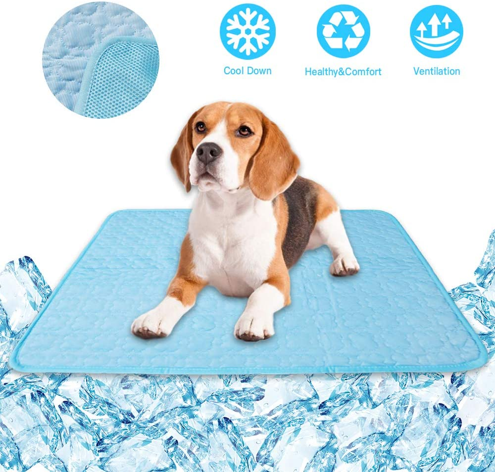KALINCO Cooling Mat Pet for Dogs Cats, Self Cool Pads, Portable and Washable Pet Cooling Blanket