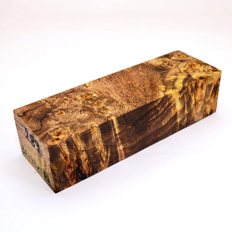 Stabilized BURL Wood Wooden Block Turning Blank Handle Blade Knives Knife Cactus Juice Stabilizing (#289)